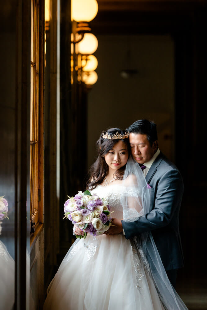 Jamie & Tina - Indoor Locations - Wedding Portrait in Legislative Assembly of Saskatchewan