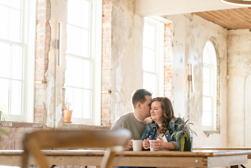 Warren & Deanna - Indoor Locations - Engagement Session at Local Market YQR