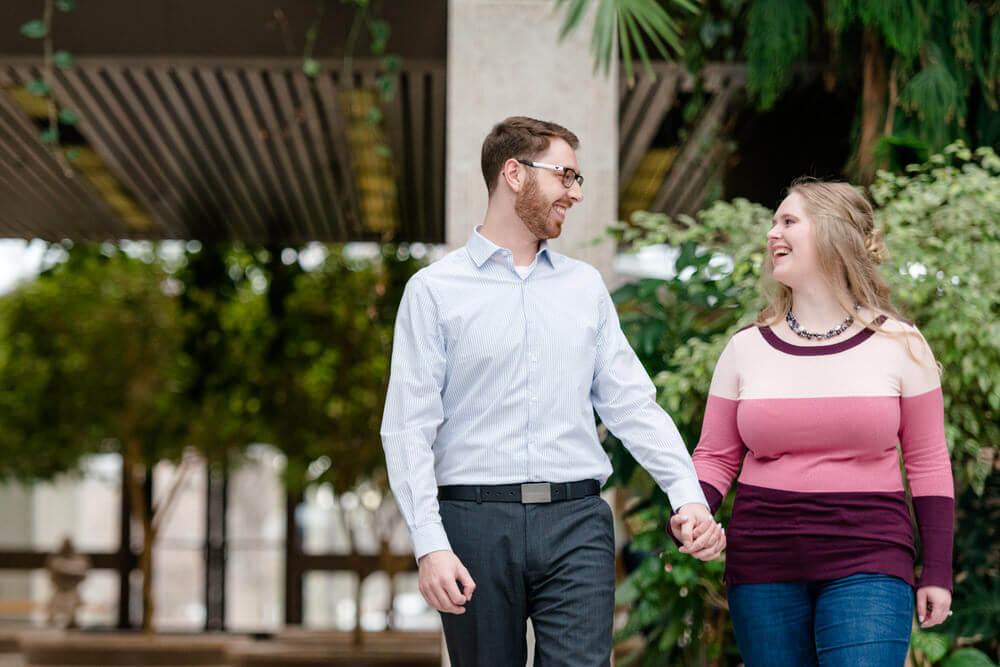 Mitch & Latasha -Indoor Locations - Engagement Session at TC Douglas Building