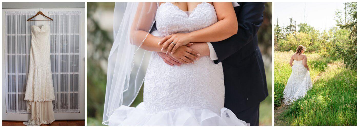 Newline Fashions & Bridal - Hanging Dress & Walking Through a Field