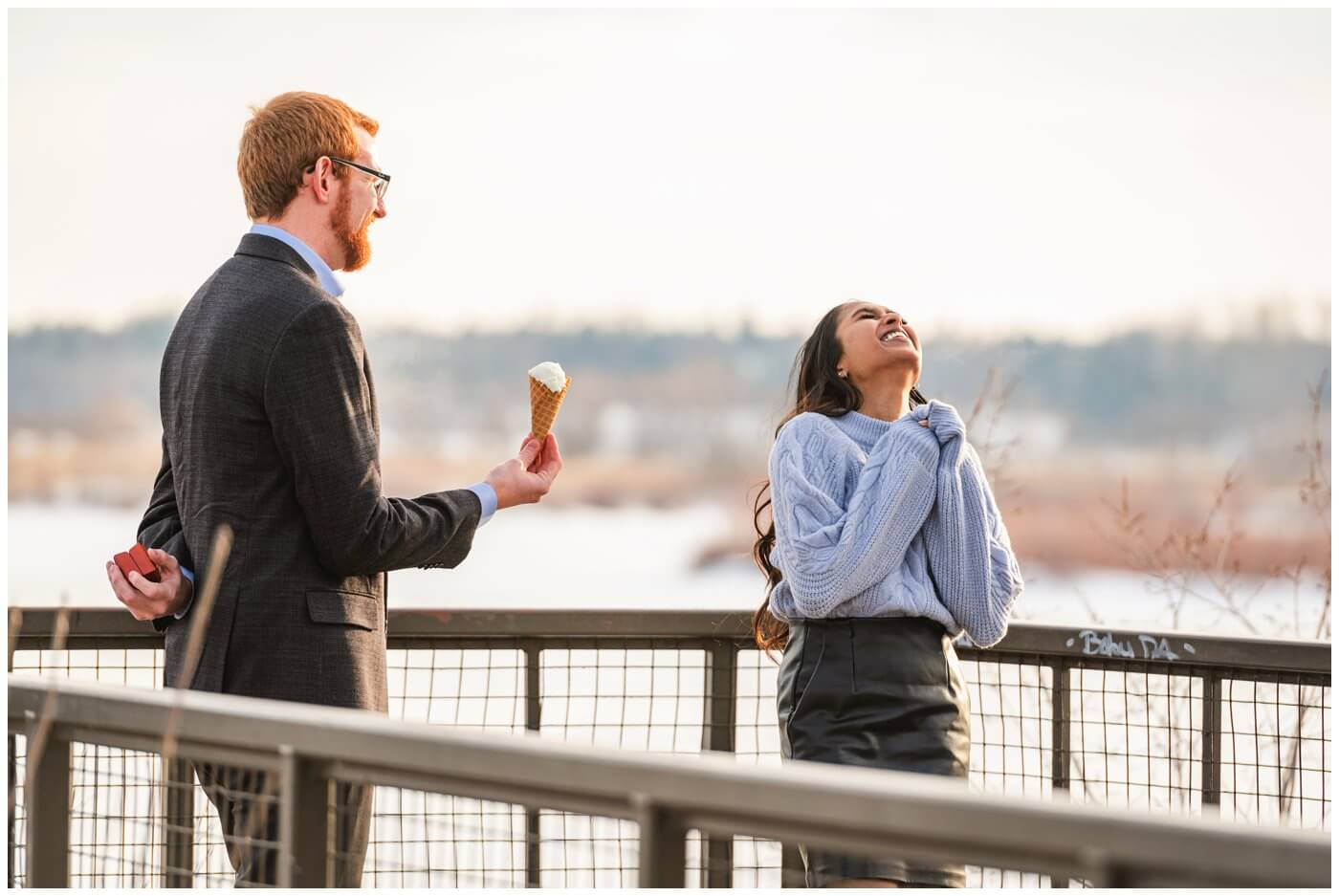 Regina Engagement Photography - Stephen & Sarah - 001 - Surpise Ice Cream Proposal