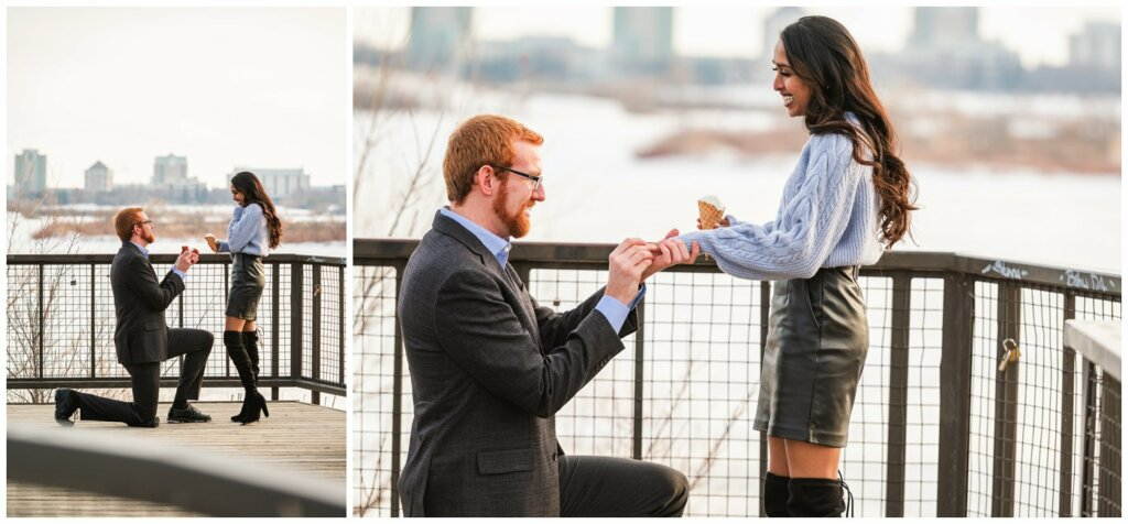 Regina Engagement Photography - Stephen & Sarah - 002 - Proposal and Engagement Ring