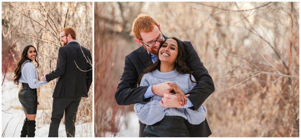 Regina Engagement Photography - Stephen & Sarah - 006 - Trails at Candy Cane Park