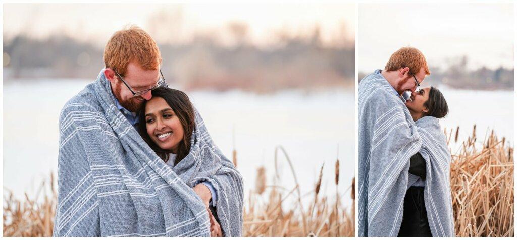 Regina Engagement Photography - Stephen & Sarah - 010 - Snuggling under a blanket