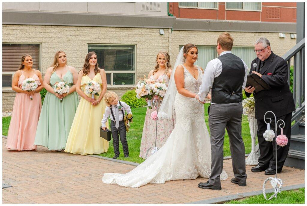 Jon & Callie - 10 - Wedding Ceremony at Sandman Hotel in Regina