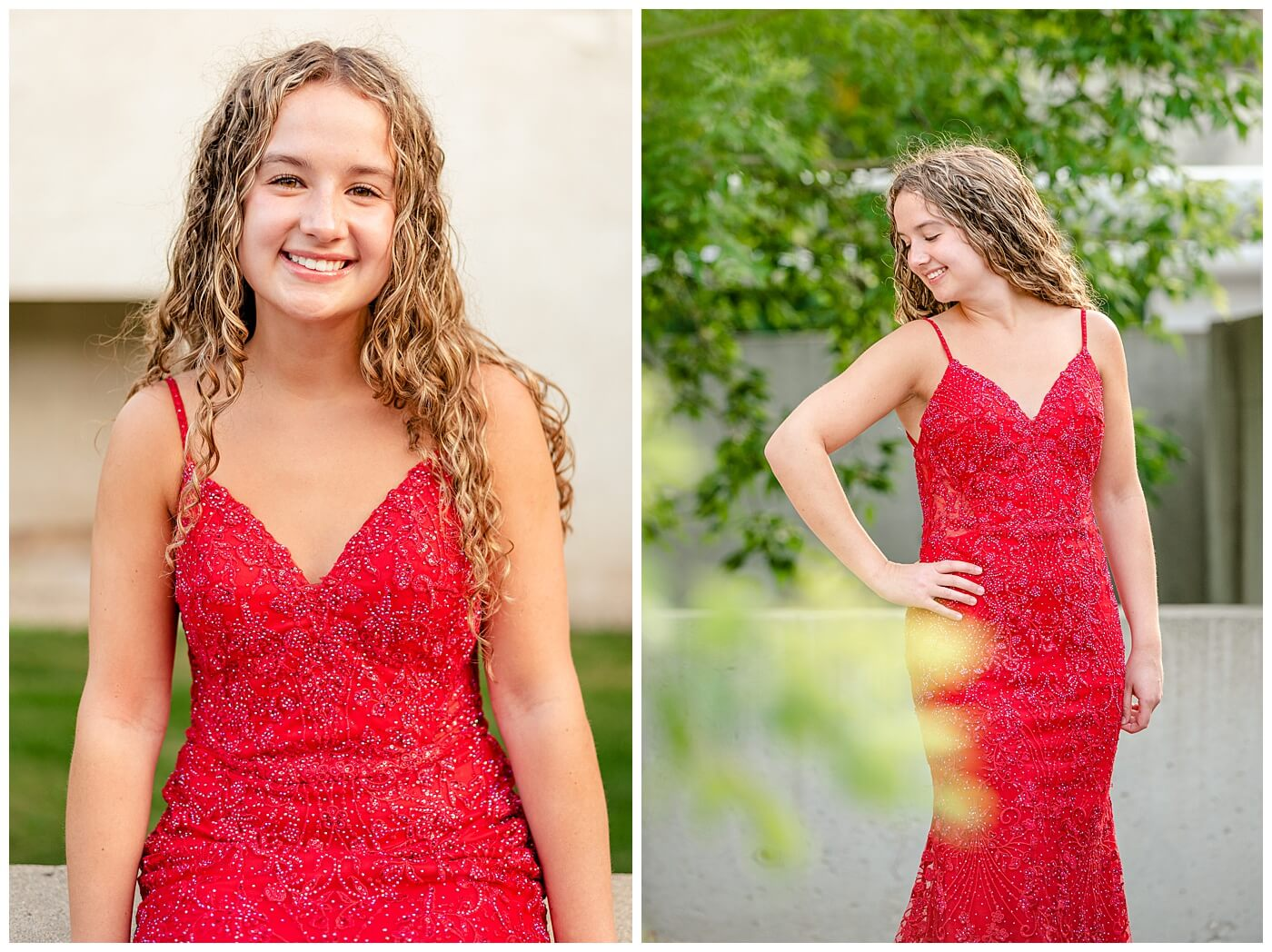 Cailey Baseden - Graduation 2021 - 05 - Red grad dress from NWL