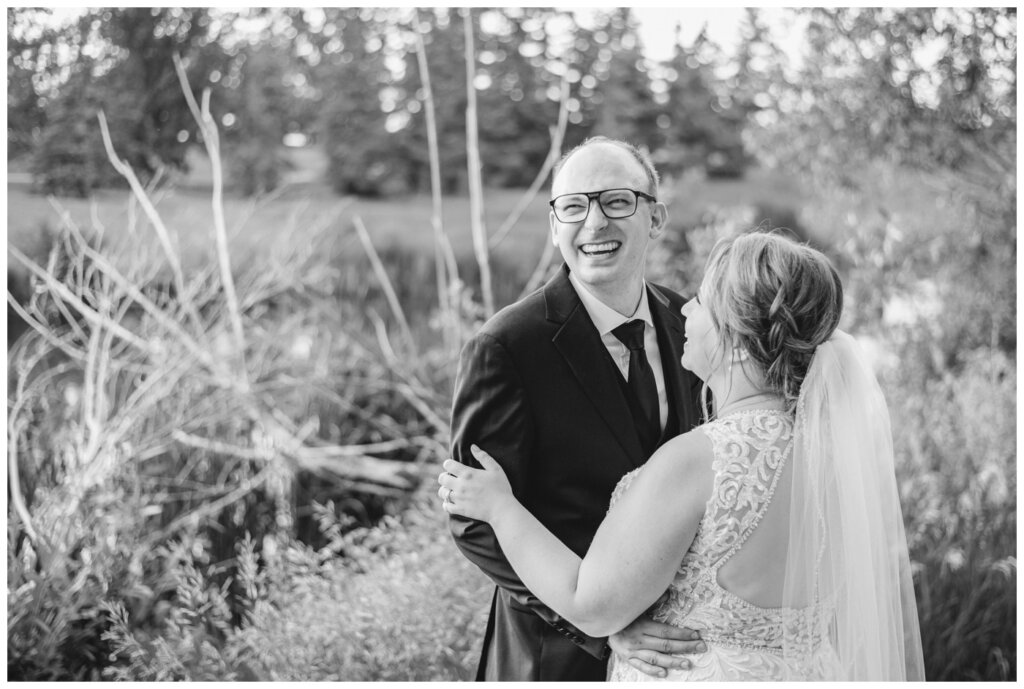 Colter & Jillyan - Encore Wedding Session - 06 - Groom laughing off camera