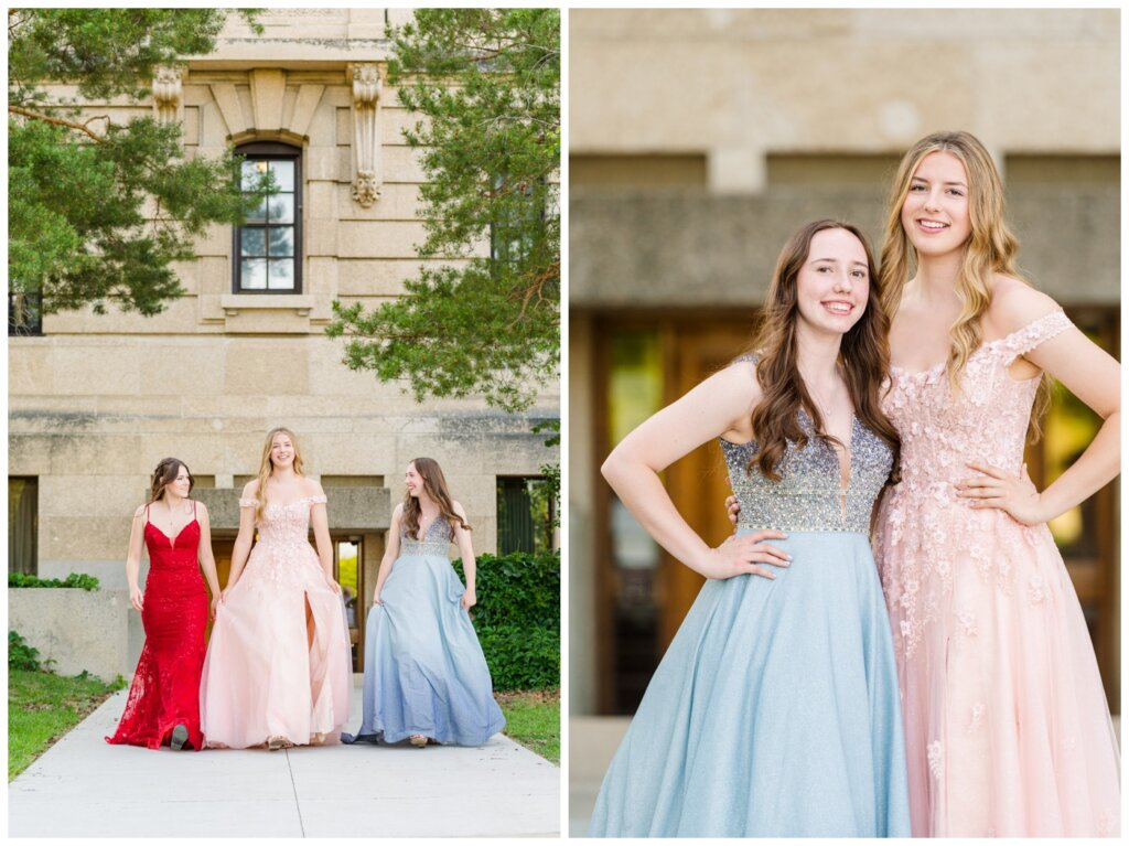 Graduates walking together in their unique gowns