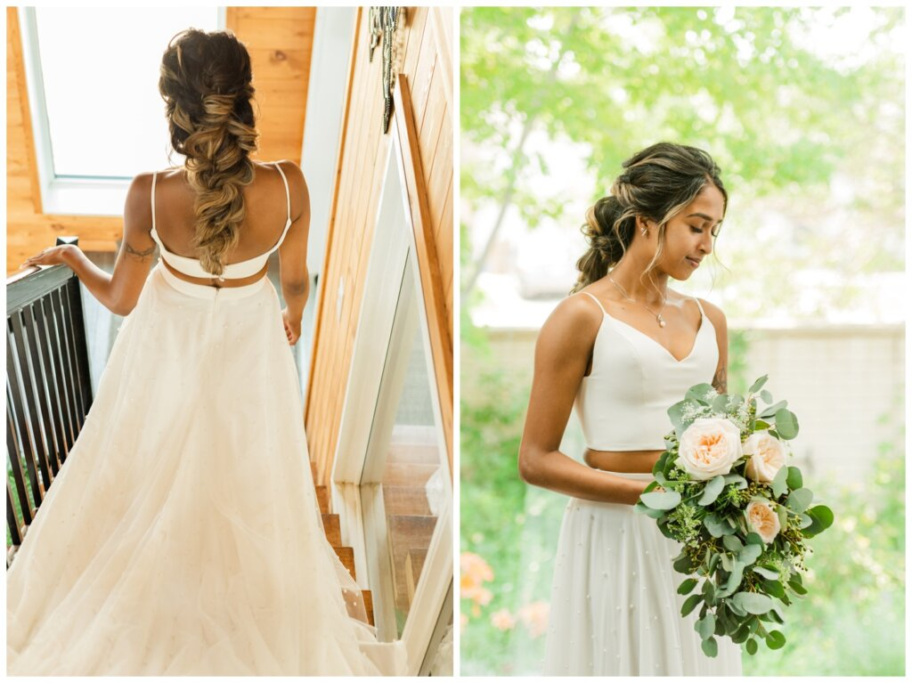 Stephen & Sarah Wedding - 06 - Bridal hair done by Daniel Christopher Salon Regina