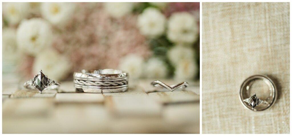 Stephen & Sarah Wedding - 06 - Custom salt and pepper diamond ring by Custom Made