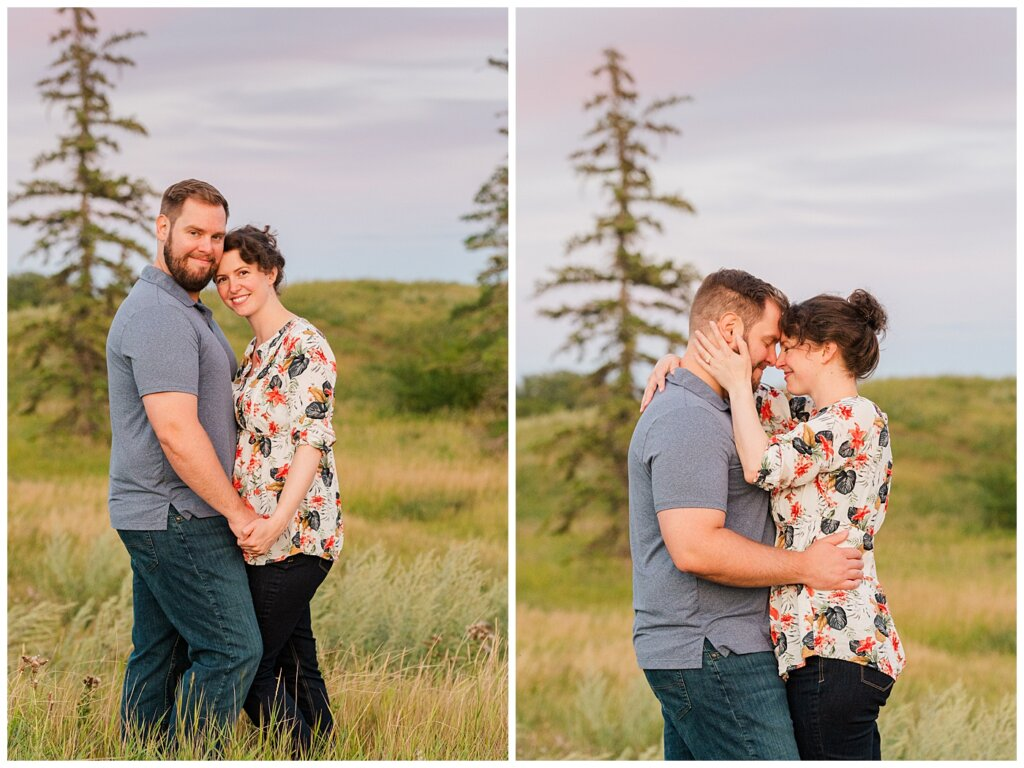 Mitch & Val - Engagement Session in Wascana Habitat Conservation Area - 14 - Couple at Douglas Park hill