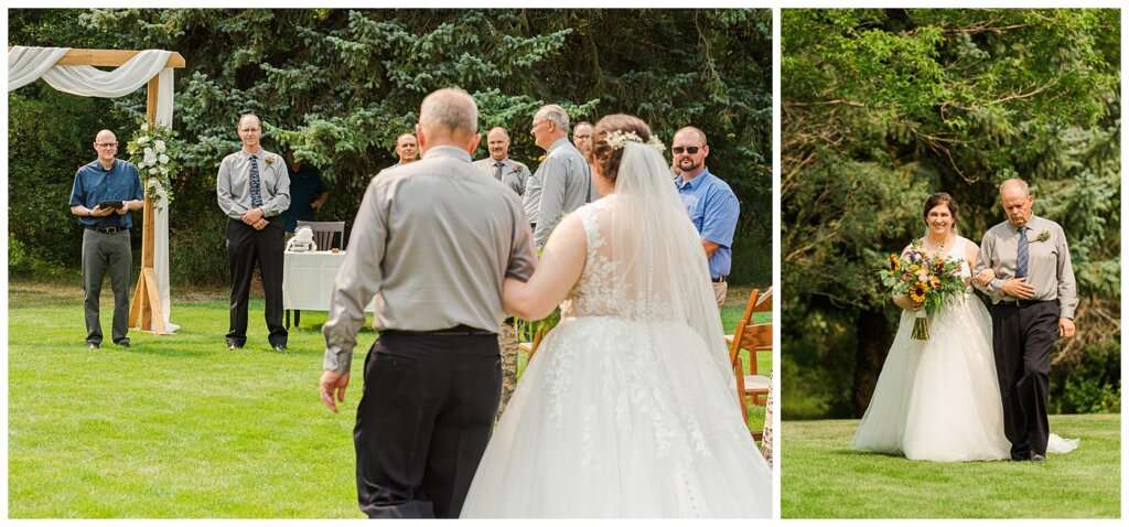 Sheldon & Amy - Besant Campground Wedding - 07 - Bride & Groom first look