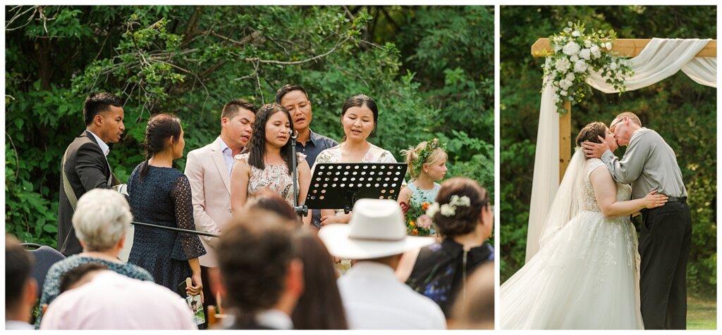 Sheldon & Amy - Besant Campground Wedding - 09 - First Kiss