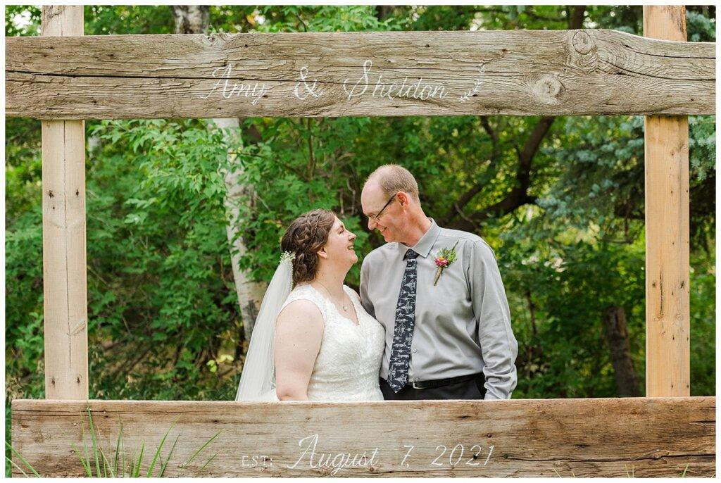 Sheldon & Amy - Besant Campground Wedding - 19 - Mr & Mrs Established August 2021