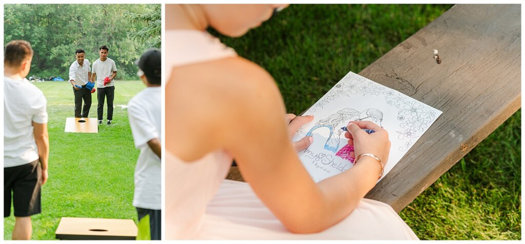Sheldon & Amy - Besant Campground Wedding - 22 - Reception picnic games