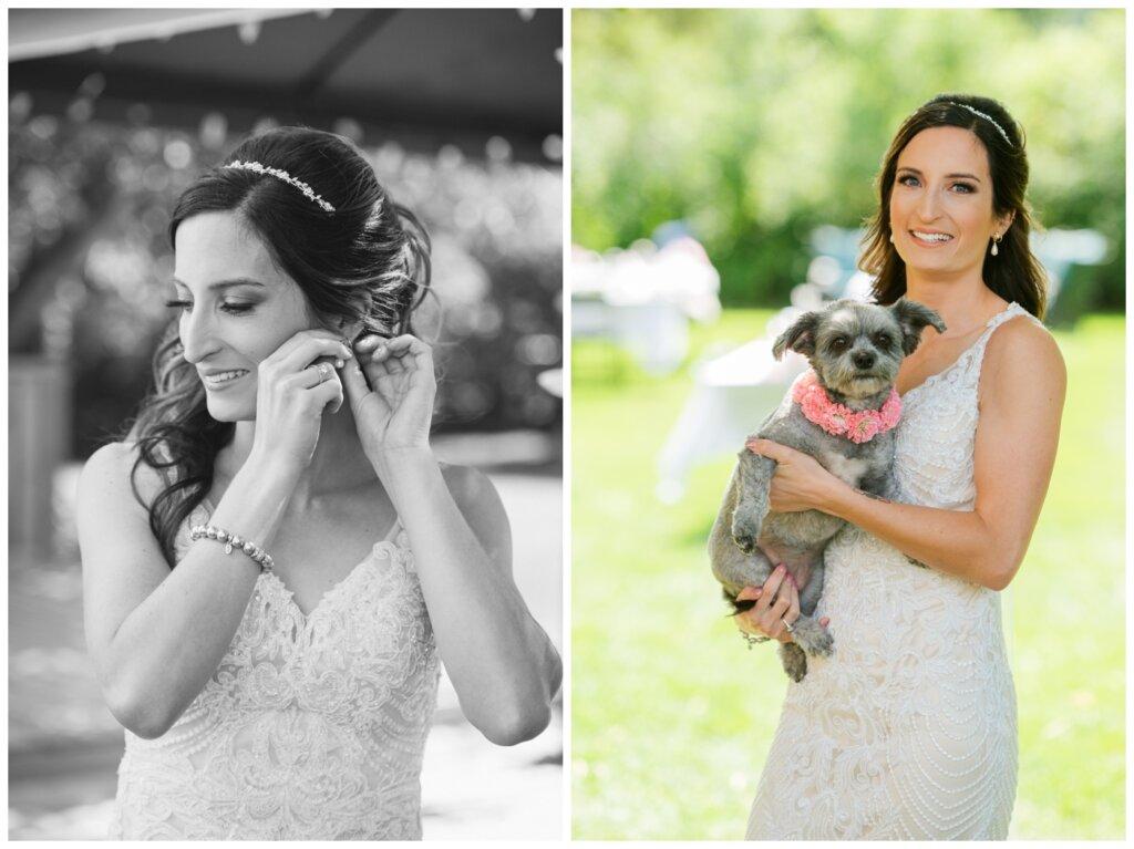 Taylor & Jolene - Emerald Park Wedding - 04 - Bridal prep with Bridesmaid Puppy