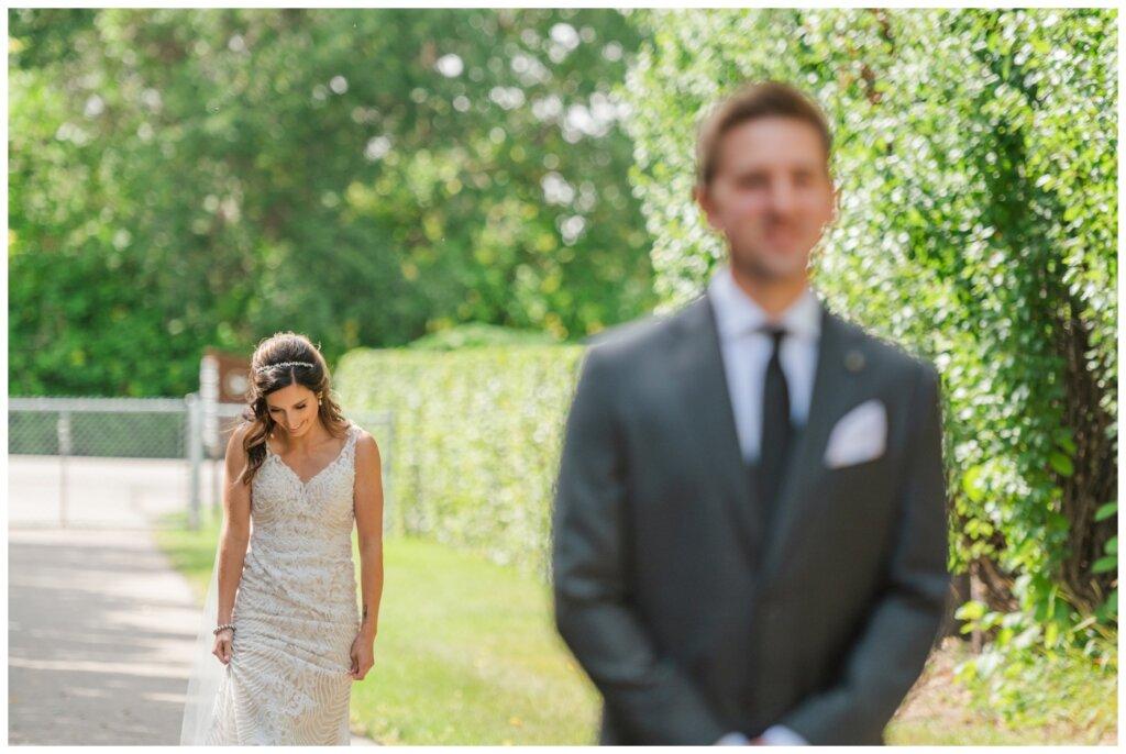 Taylor & Jolene - Emerald Park Wedding - 05 - Bride & Groom First Look