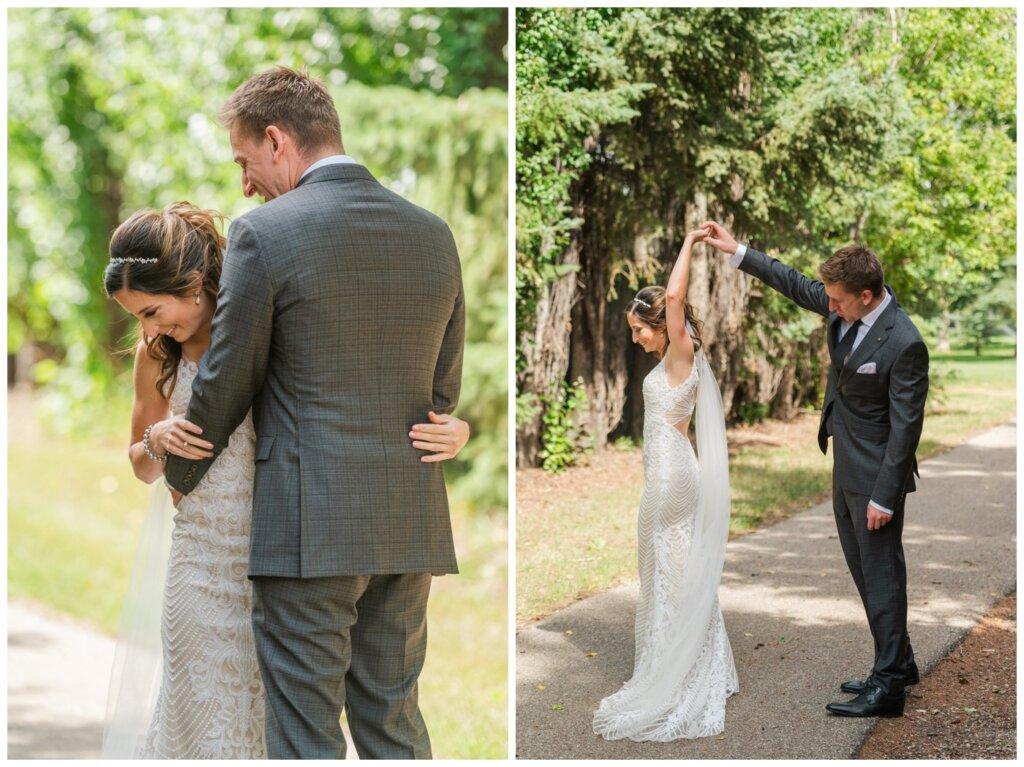 Taylor & Jolene - Emerald Park Wedding - 06 - Bride & Groom First Look