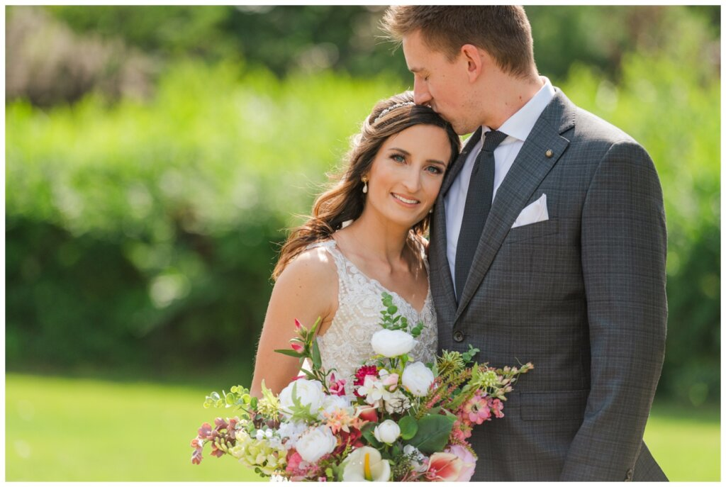 Taylor & Jolene - Emerald Park Wedding - 11 - Bride and her brilliant blue eyes