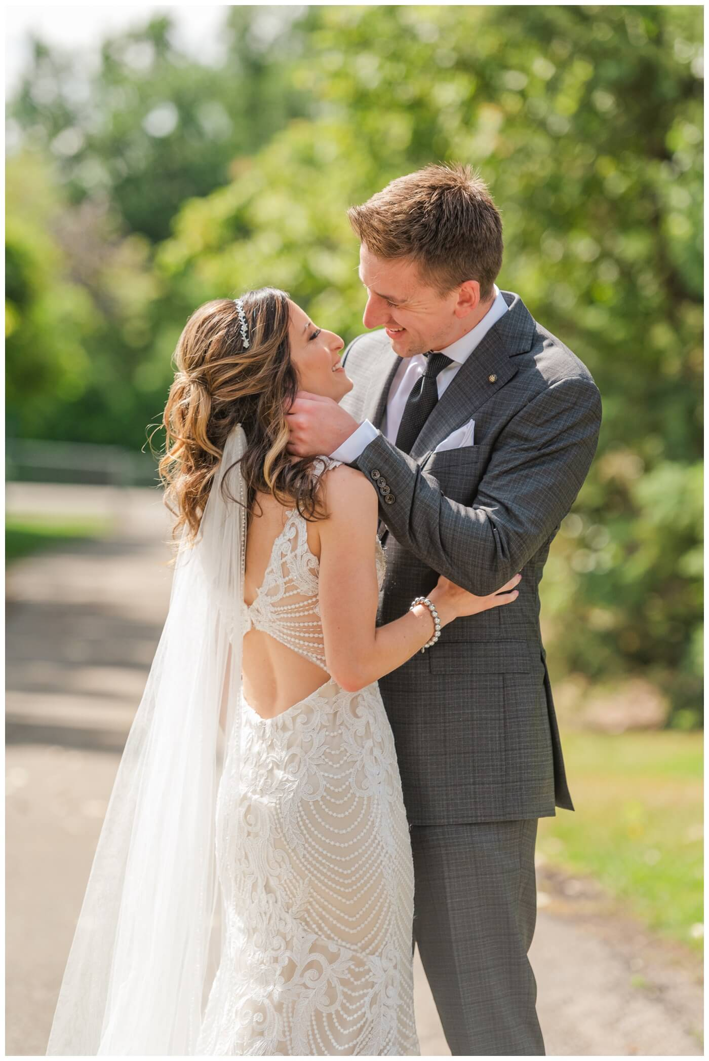 Taylor & Jolene - Emerald Park Wedding - 12 - Bride's beautiful dress from NWL in Regina