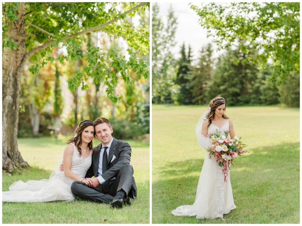 Taylor & Jolene - Emerald Park Wedding - 14 - Bride in the park