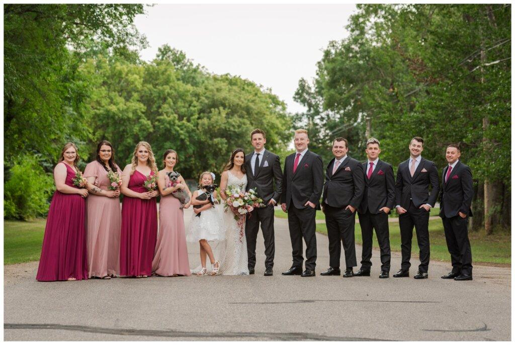 Taylor & Jolene - Emerald Park Wedding - 18 - Bridal Party on Lott Road