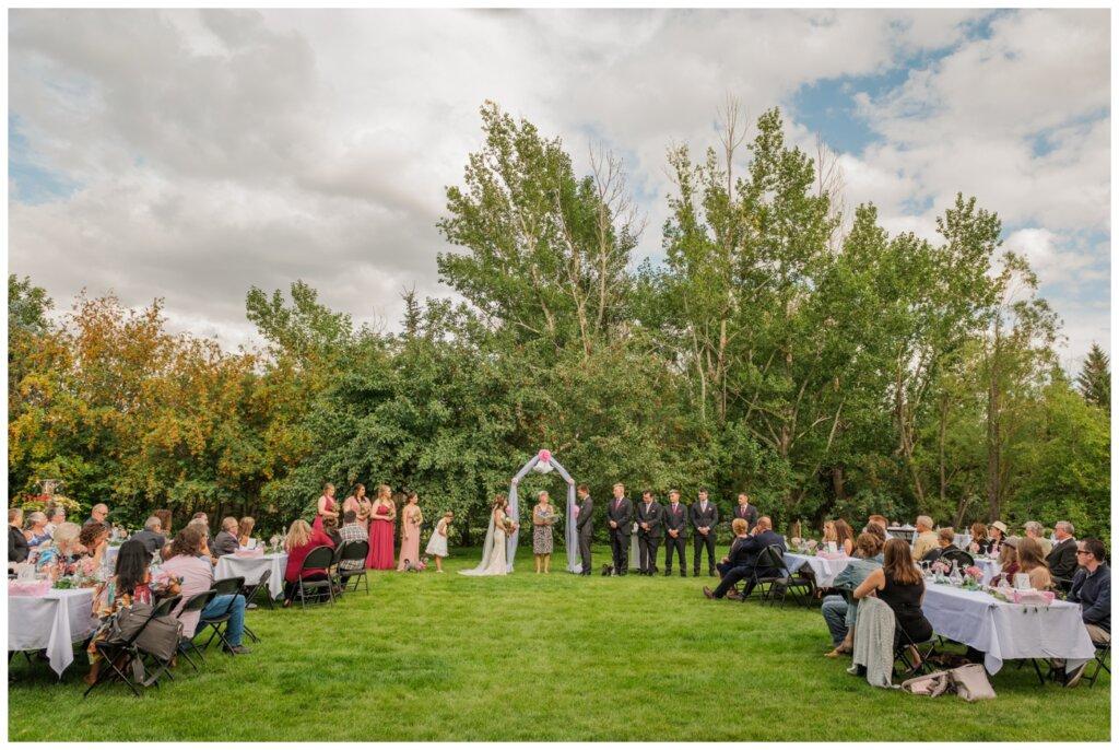 Taylor & Jolene - Emerald Park Wedding - 31 - Backyard wedding in White City