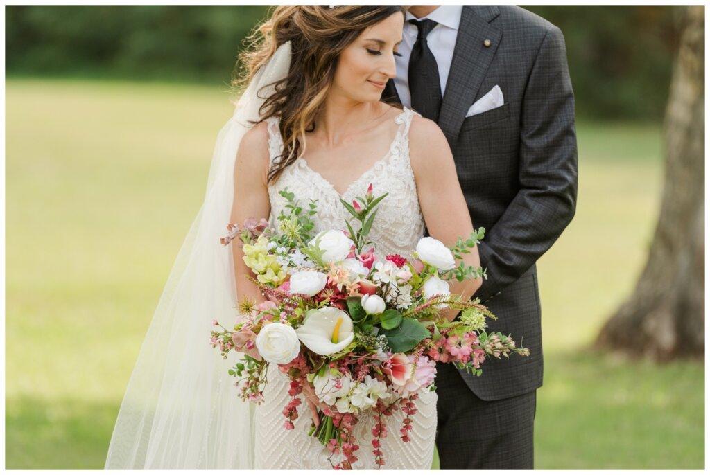 Taylor & Jolene - White City Wedding - 15 - Bride's beautiful silk bouquet