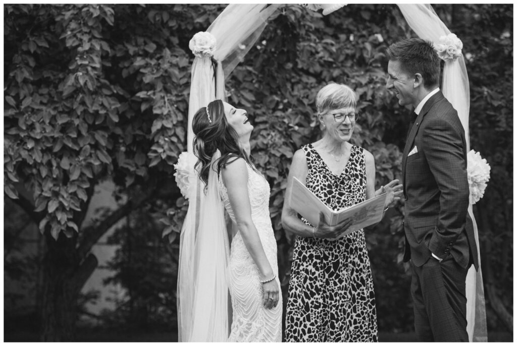 Taylor & Jolene - White City Wedding - 33 - Marriage commissioner Barbara Jones