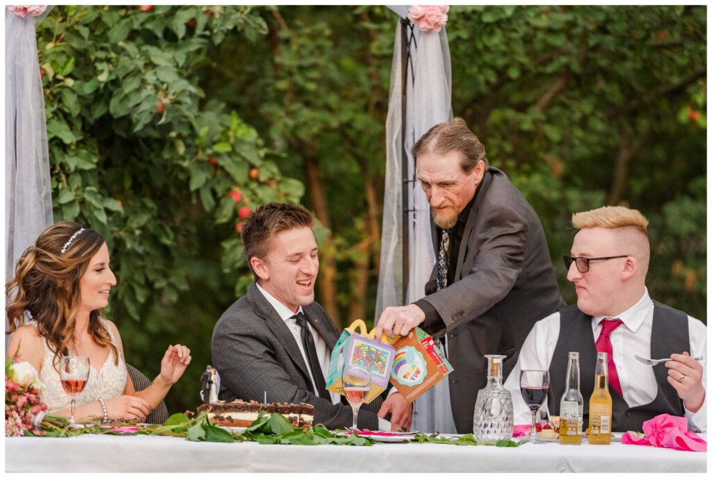 Taylor & Jolene - White City Wedding - 38 - Gift to the couple from the father of the bride