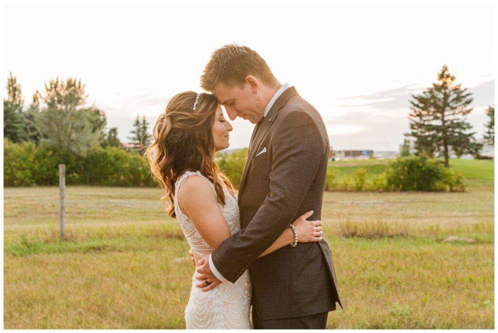 Taylor & Jolene - White City Wedding - 40 - Bride & Groom take a breath at sunset