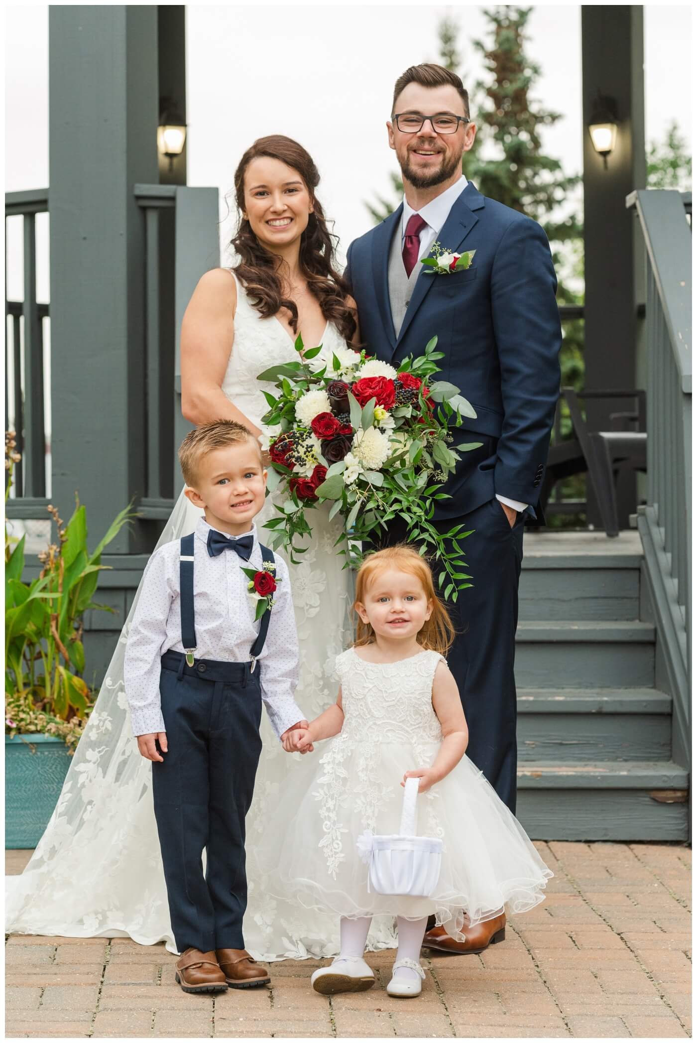 Andrew & Lacey - 19 - Bride & Groom with Ringbearer and Flowergirl