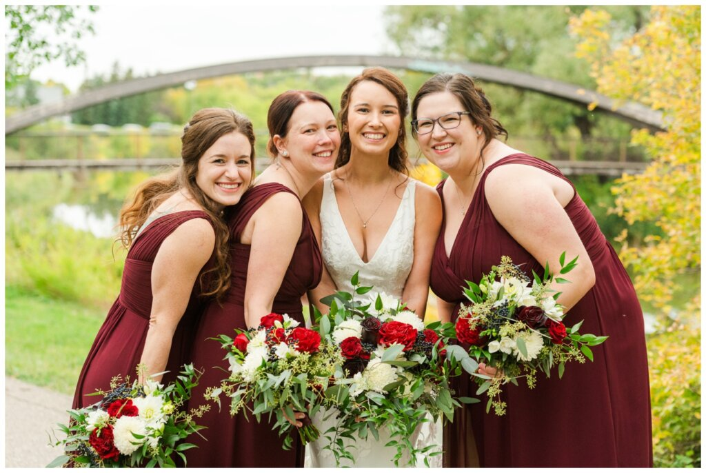 Andrew & Lacey - 21 - Bride & Bridesmaids at Rotary Park