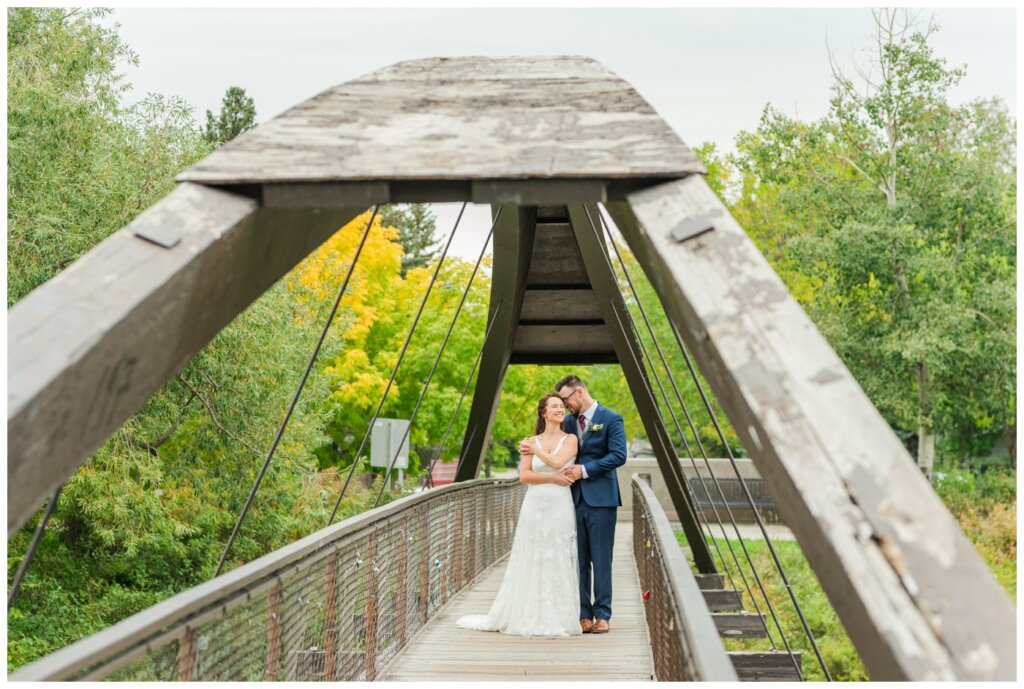 Andrew & Lacey - 25 - Bride & Groom on bridge