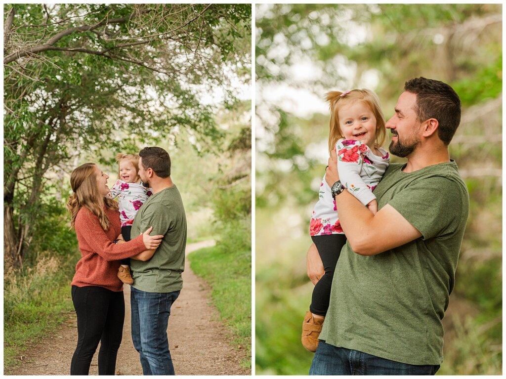 Eyre Family 2021 - AE Wilson Park - Family Photo Shoot - 04 - Family stands under tree canopy