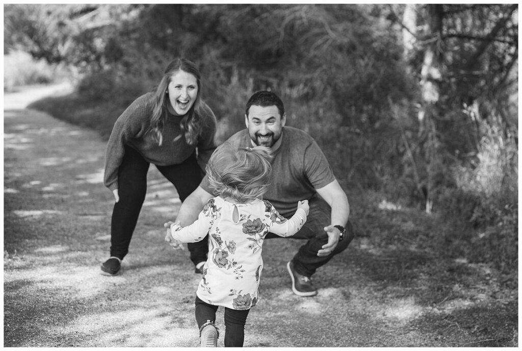 Eyre Family 2021 - AE Wilson Park - Family Photo Shoot - 06 - Daughter runs into her dads arms
