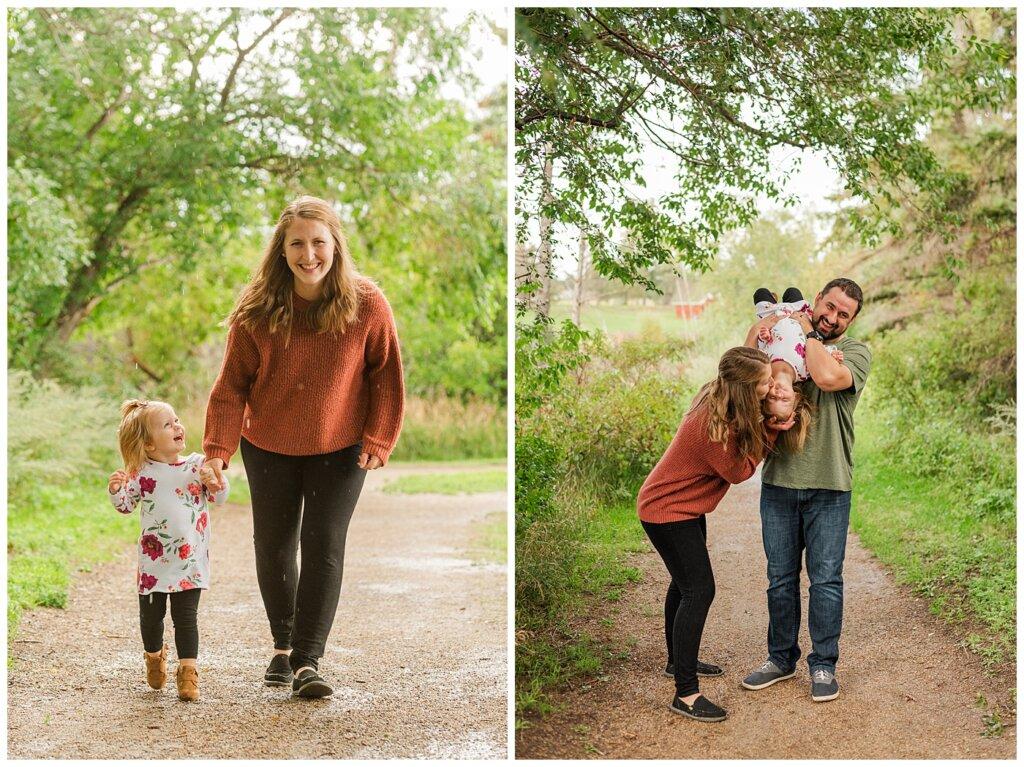 Eyre Family 2021 - AE Wilson Park - Family Photo Shoot - 11 - Running in the Rain