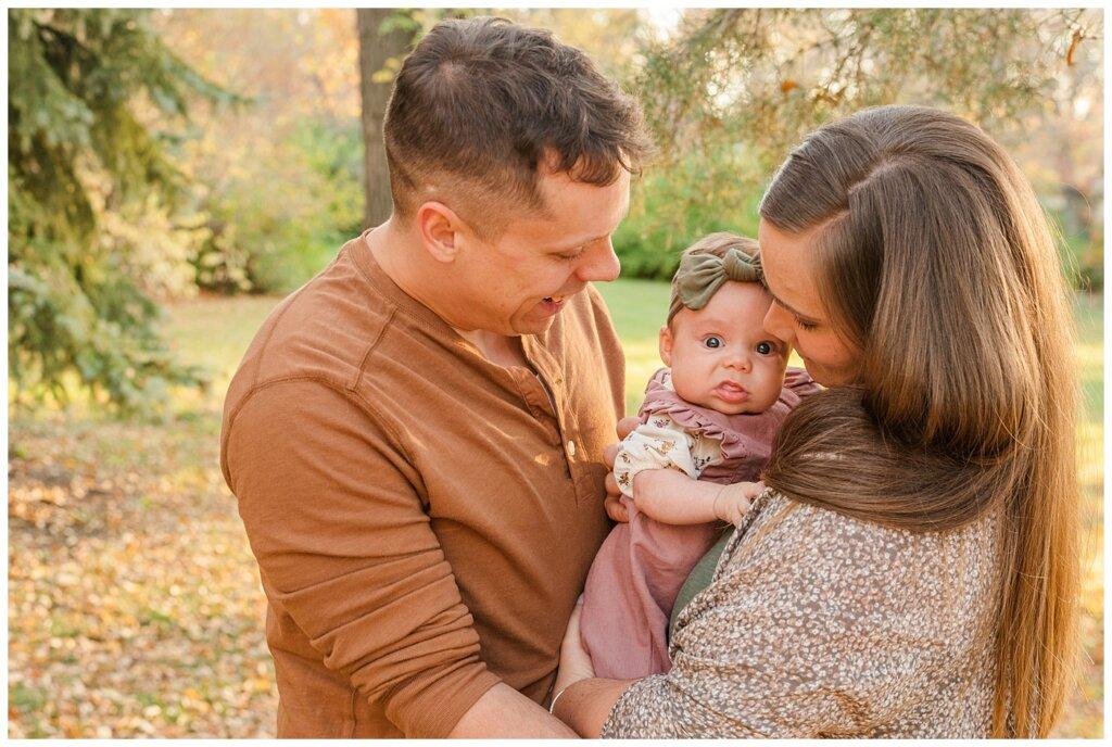 Filby Family - Regina Family Photography - Wascana Park - 03 - Baby unsure of camera