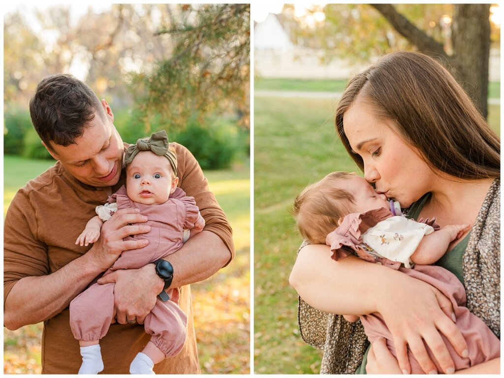 Filby Family - Regina Family Photography - Wascana Park - 04 - Baby Isla with Dad and baby isla with mom