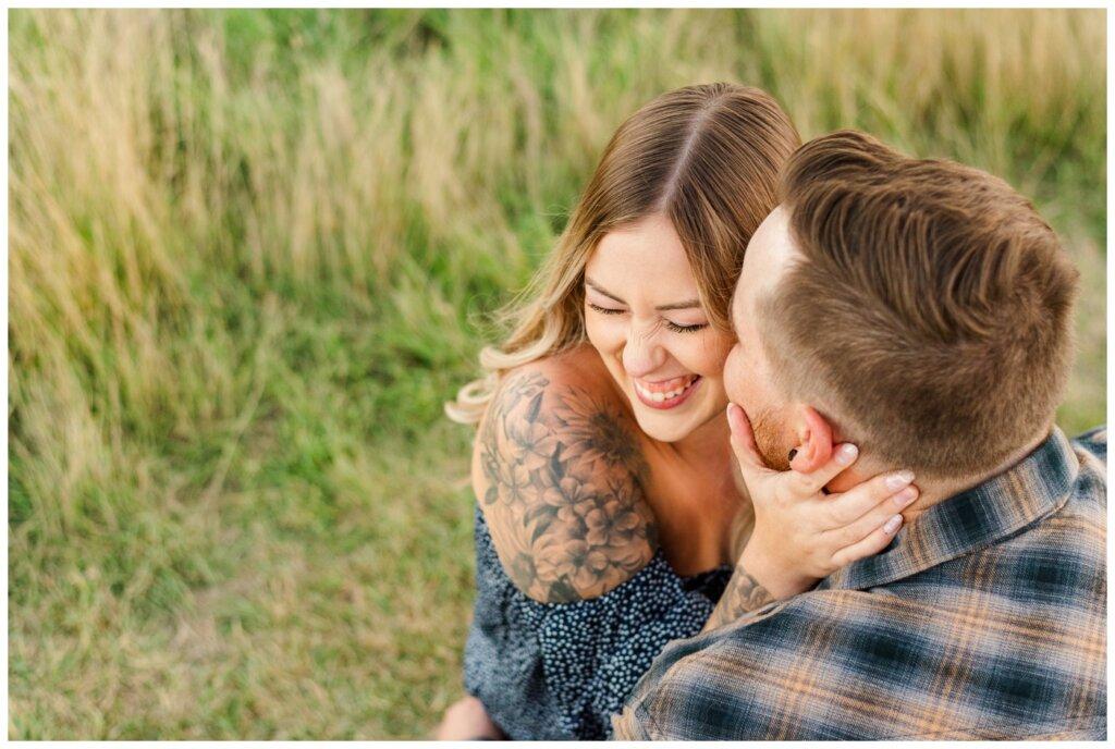 Jared & Jenna - Wascana Trails - 12 - Jenna laughing off camera