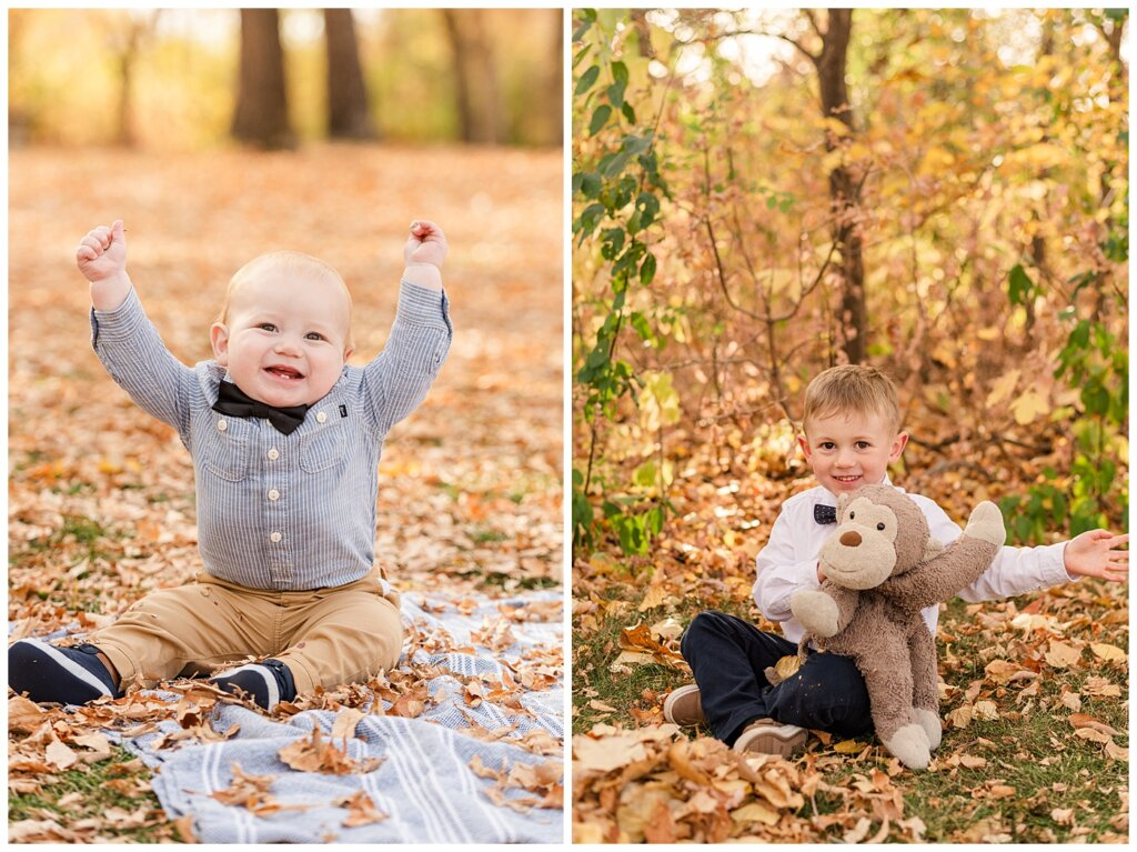 Nickel Family - Regina Science Centre - Family Photo Session - 06 - Brothers cheering