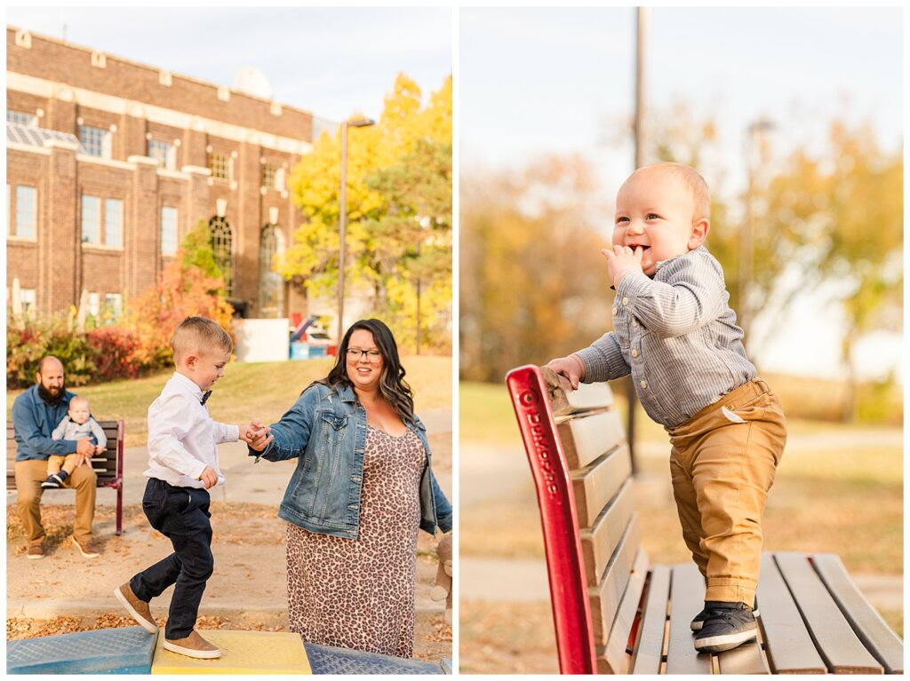 Nickel Family - Regina Science Centre - Family Photo Session - 14 - Kids playing at Science Centre playground
