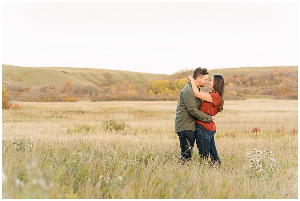Tris & Jana - Engagement Session - Wascana Trails - 03 - Nose to nose couple
